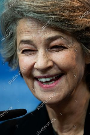 Charlotte Rampling attends the Hommage Charlotte Rampling press conference during the 69th Berlinale International Film Festival Berlin at Grand Hyatt Hotel on February 14, 2019 in Berlin, Germany. Rampling is this years recipient of the Honorary Golden Bear Award of the Berlinale. (Photo by Manuel Romano/NurPhoto)