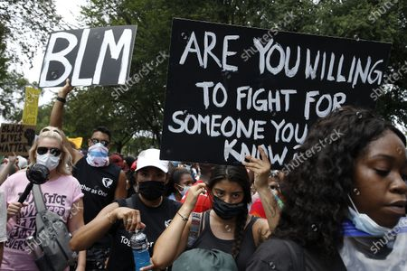 Editorial picture of Tens Of Thousands Join 'Get Your Knee Off Our Necks' March, Washington DC, USA - 28 Aug 2020