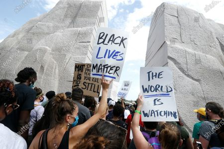 Editorial image of Tens Of Thousands Join 'Get Your Knee Off Our Necks' March, Washington DC, USA - 28 Aug 2020