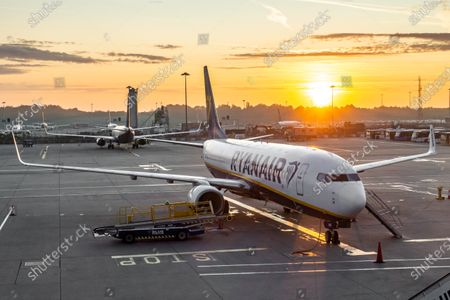 Editorial photo of Sunrise In London Stansted Airport, UK - 22 Sep 2020
