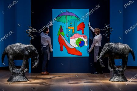 Editorial picture of A Preview of Christie's livestreamed Modern British Art Auction., King Street, London, UK - 17 Feb 2021