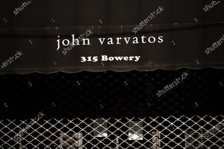 A view of  John Varvatos boutique during the coronavirus pandemic on May 13, 2020 in New York City. COVID-19 has spread to most countries around the world, claiming over 270,000 lives with over 3.9 million infections reported. (Bloomberg)- Rock-Star Outfitter John Varvatos's Firm Files for Bankruptcy.