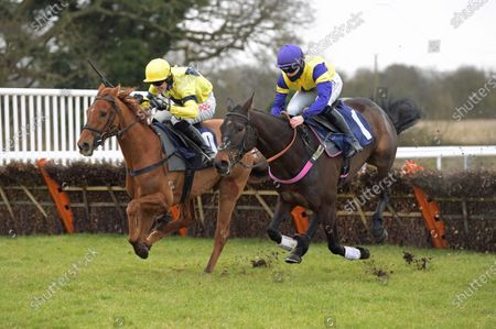 BALLYBEG with Richard Patrick wins from left PAPA TANGO CHARLY 2nd in Every race Live On Racinhg TV Novice Hurdle at Wetherby
