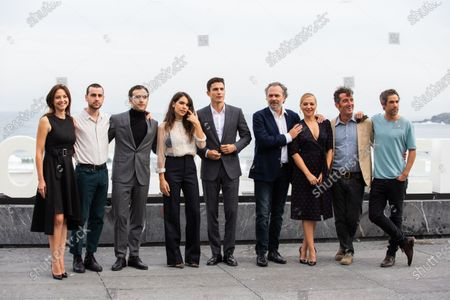 (L-R) Actors Leonor Watling, Alex Monner, Ricardo Gomez, Claudia Traisac, Alex Gonzalez, Jose Coronado, Pilar Castro, Luis Zahera and Unax Ugalde attends 'Vivir Sin Permiso' photocall during the 66th San Sebastian Film Festival on September 21, 2018 in San Sebastian, Spain.