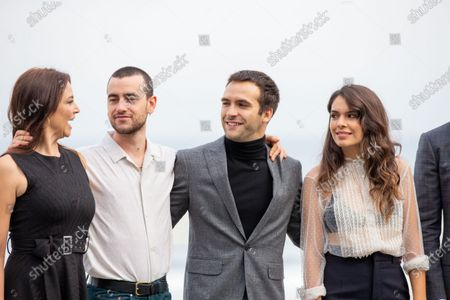 (L-R) Leonor Watling, Alex Monner, Alex Gonzalez, Claudia Traisac attends 'Vivir Sin Permiso' photocall during the 66th San Sebastian Film Festival on September 21, 2018 in San Sebastian, Spain.