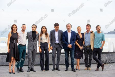 Stock Photo of (L-R) Actors Leonor Watling, Alex Monner, Ricardo Gomez, Claudia Traisac, Alex Gonzalez, Jose Coronado, Pilar Castro, Luis Zahera and Unax Ugalde attends 'Vivir Sin Permiso' photocall during the 66th San Sebastian Film Festival on September 21, 2018 in San Sebastian, Spain.