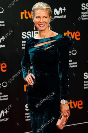 Anne Igartiburu attends 'Vivir Sin Permiso' premiere during 66th San Sebastian Film Festival on September 21, 2018 in San Sebastian, Spain.