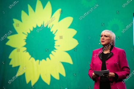 Stock Picture of Claudia Roth at the political ash wednesday of the green party
