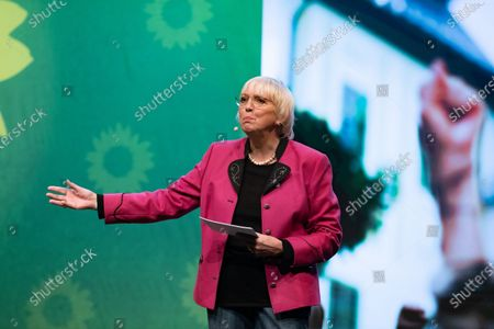 Stock Photo of Claudia Roth at the political ash wednesday of the green party