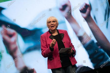 Stock Image of Claudia Roth at the political ash wednesday of the green party