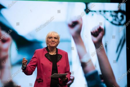 Claudia Roth at the political ash wednesday of the green party