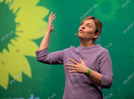Katharina Schulze at the political ash wednesday of the green party