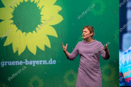 Stock Picture of Katharina Schulze at the political ash wednesday of the green party