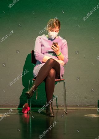 Stock Image of Katharina Schulze at the political ash wednesday of the green party
