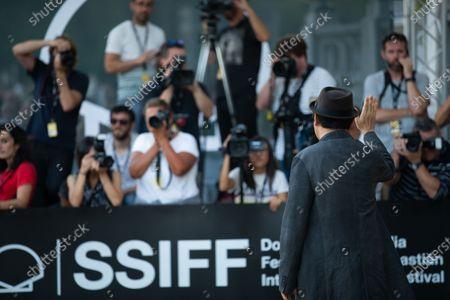Jee-woon Kim is seen arriving at Maria Cristina Hotel during 66th San Sebastian Film Festival on September 26, 2018 in San Sebastian, Spain.