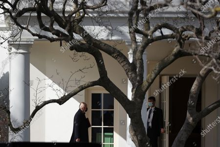 US President Joe Biden arrives at the White House after a trip to Georgetown University campus in Washington, DC, USA, 17 February 2021. President Biden received his ashes for Ash Wednesday from Rev. Brian McDermott at Georgetown University, Wolfington Hall.