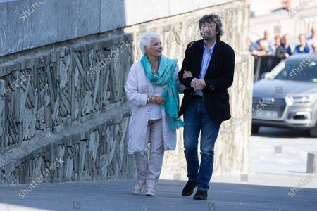 Judi Dench, Sir Trevor Nunn attend the 'Red Joan' photocall during the 66th San Sebastian International Film Festival on September 25, 2018 in San Sebastian, Spain.