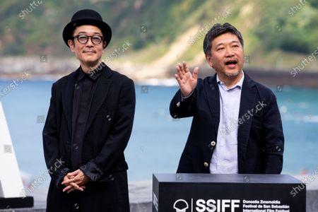 Stock Photo of Hirokazu Kore'eda (R) and Lily Franky during the photocall for 'Donostia Award' at the 66th San Sebastian International Film Festival on September 23, 2018 in San Sebastian, Spain.