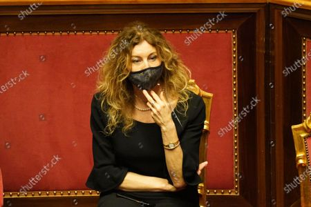 Erika Stefani, minister for Disabilities, attends the debate at the Senate ahead of a confidence vote, in Rome, Italy, 17 February 2021.