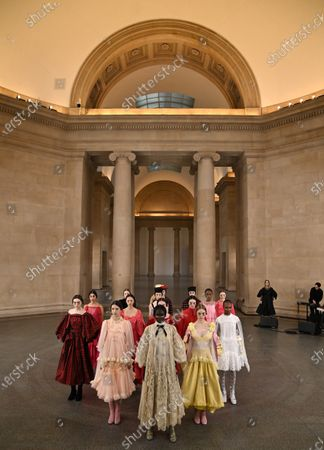 Editorial photo of Bora Aksu show, Runway, London Fashion Week, UK - 19 Feb 2021