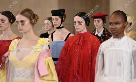 Editorial image of Bora Aksu show, Runway, London Fashion Week, UK - 19 Feb 2021