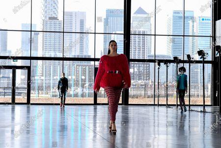 Editorial image of Mark Fast show, Runway, Autumn Winter 2021, London Fashion Week, UK - 19 Feb 2021