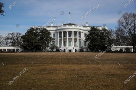 The South Lawn of the White House is seen in Washington, D.C. President Biden is expected to receive his ashes for Ash Wednesday from Rev. Brian McDermott at Georgetown University, Wolfington Hall.
