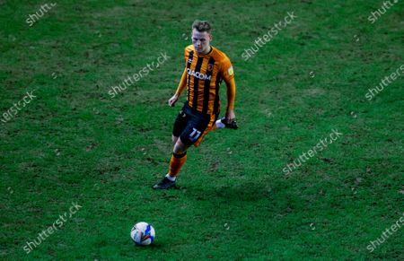 Hull City forward James Scott (11)  during the EFL Sky Bet League 1 match between Wigan Athletic and Hull City at the DW Stadium, Wigan
