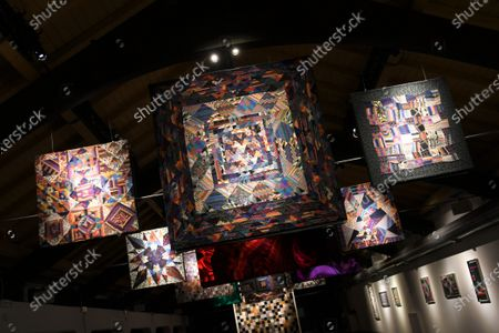 "Stock Image of ""Sala Tapestries Ottavio Missoni"" exhibit at the at the MA * GA Museum in collaboration with the Ottavio and Rosita Missoni Foundation."