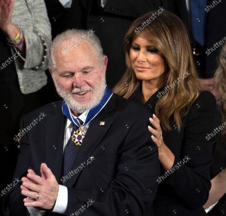 Stock Photo of Rush Limbaugh and First Lady Melania Trump