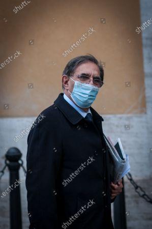 Senator of Fratelli d'Italia Ignazio La Russa  during the confidence vote at the Senate on Mario Draghi's Government .in Rome, 17 February 2021. (Photo by Andrea Ronchini/NurPhoto)