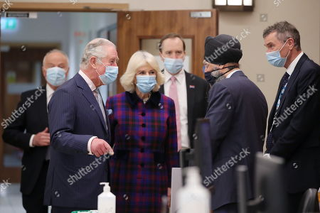 Editorial photo of Prince Charles and Camilla Duchess of Cornwall visit Queen Elizabeth Hospital, Birmingham, UK - 17 Feb 2021