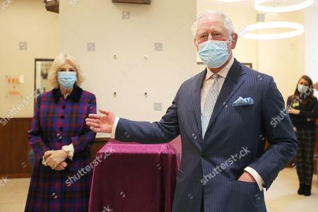 Editorial image of Prince Charles and Camilla Duchess of Cornwall visit Queen Elizabeth Hospital, Birmingham, UK - 17 Feb 2021