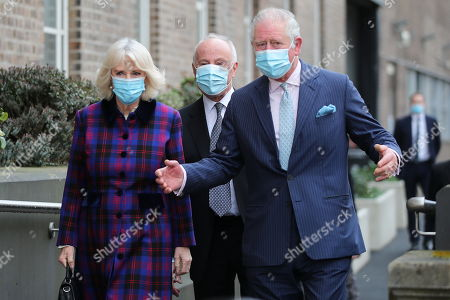 Britain's Prince Charles and Camilla Duchess of Cornwall, visit Queen Elizabeth Hospital, amid the spread of the coronavirus disease (COVID-19)