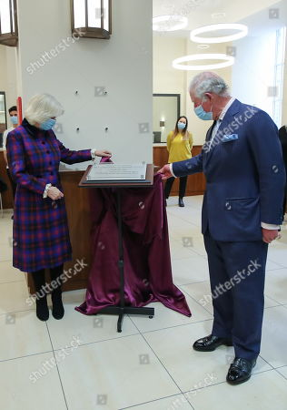 Stock Photo of Britain's Prince Charles and Camilla Duchess of Cornwall, visit Queen Elizabeth Hospital, amid the spread of the coronavirus disease (COVID-19)