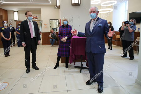 Editorial picture of Prince Charles and Camilla Duchess of Cornwall visit Queen Elizabeth Hospital, Birmingham, UK - 17 Feb 2021