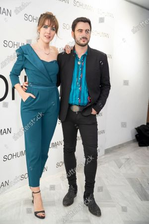 Andrea Guasch attends the 'Relieve' fashion show photocall at the White Lab Gallery
