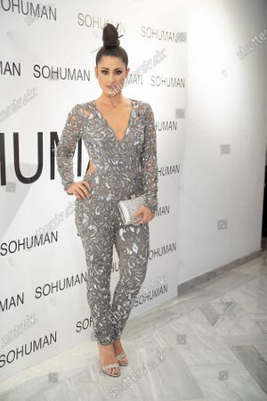 Barei attends the 'Relieve' fashion show photocall at the White Lab Gallery