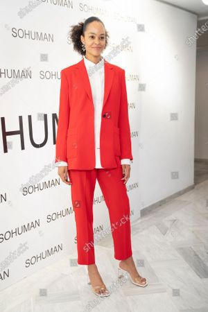 Editorial picture of Sohuman presents 'Relieve' show, Arrivals, White Lab Gallery, Madrid, Spain - 17 Feb 2021