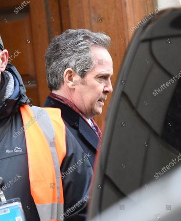 Stock Image of Tom Hollander plays Dalby during the remake of the Ipcress File filming on location in Liverpool