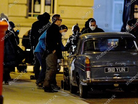 Stock Photo of Joe Cole stars as Harry Palmer in the remake of the Ipcress File filming on location in Liverpool