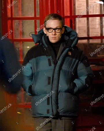 Joe Cole stars as Harry Palmer in the remake of the Ipcress File filming on location in Liverpool