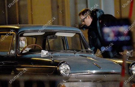 Joe Cole stars as Harry Palmer in the remake of the Ipcress File filming on location in Liverpool. Lucy Boynton co stars as Jean.