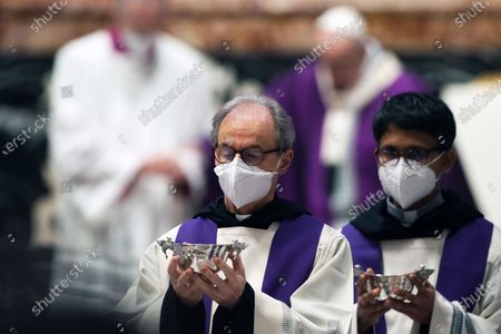 Celebration of the Ash Wednesday mass in St. Peter's Basilica at the Vatican