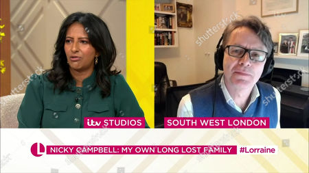 Stock Image of Ranvir Singh, Nicky Campbell