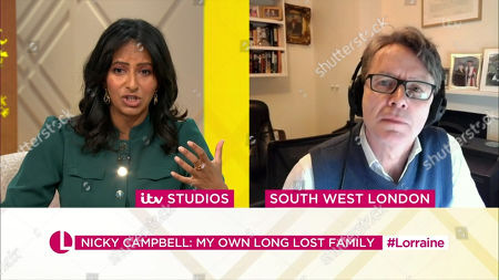 Stock Photo of Ranvir Singh, Nicky Campbell