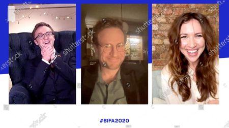 Stock Photo of Tom Felton, Rafe Spall and Esther Smith