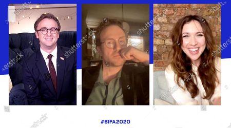 Tom Felton, Rafe Spall and Esther Smith