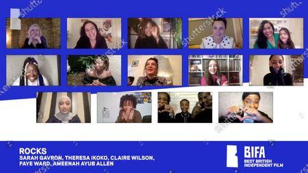 Stock Image of Sareah Gavron, Theresa Ikoko, Claire Wilson, Faye Ward, Ameenah Allen - Rocks - Best British Independent Film