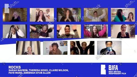 Stock Picture of Sareah Gavron, Theresa Ikoko, Claire Wilson, Faye Ward, Ameenah Allen - Rocks - Best British Independent Film
